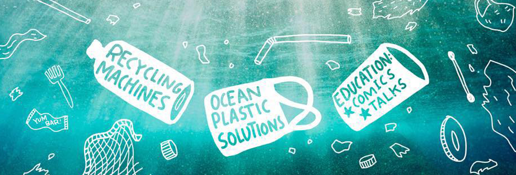 One of Sarah's comic illustrations for ocean plastic solutions